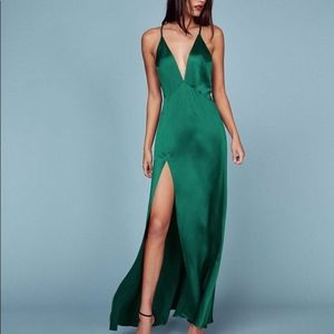 Reformation Amante Dress | Jade Green